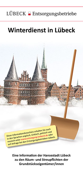 Flyer Winterdienst in Lübeck